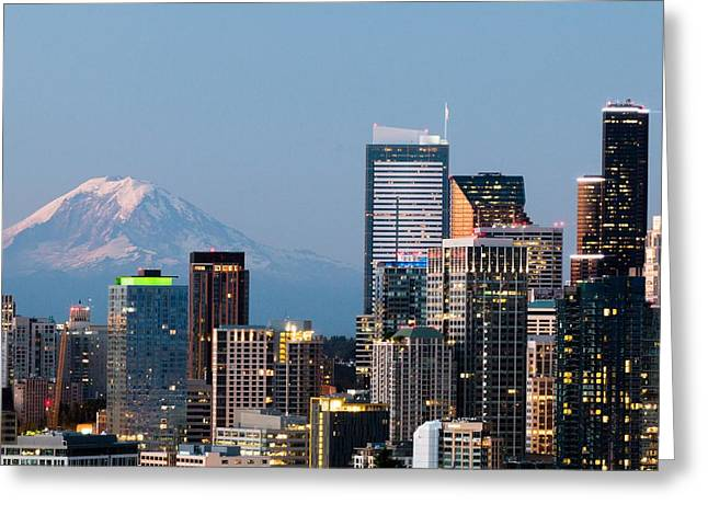 Seattle At First Light II Greeting Card