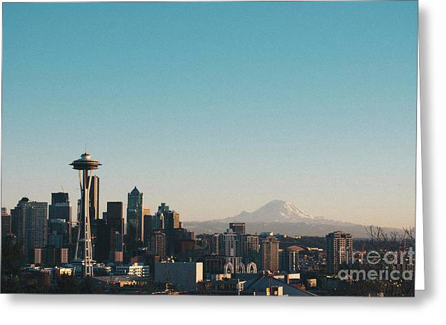 Seattle Greeting Card by Caean Do Couto