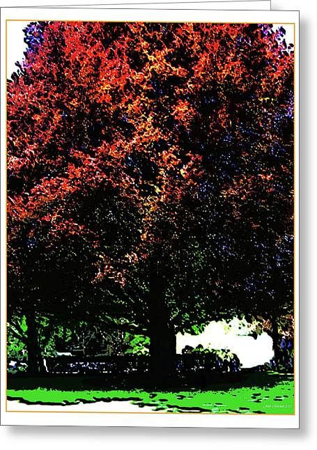 Seattle Chateau Ste Michelle Tree Greeting Card