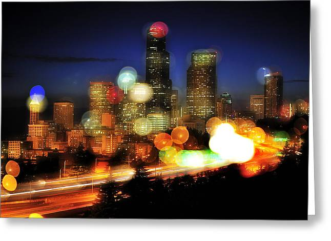 Seattle Color Spots C086 Greeting Card by Yoshiki Nakamura