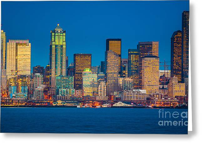 Seattle From Alki Beach Greeting Card