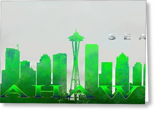 Seattle Greens Greeting Card