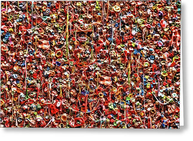 Seattle Gum Wall 2 Greeting Card by Allen Beatty
