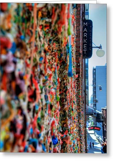 Seattle Gum Wall Greeting Card by Spencer McDonald
