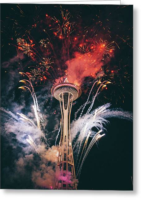 Seattle Greeting Card by Happy Home Artistry