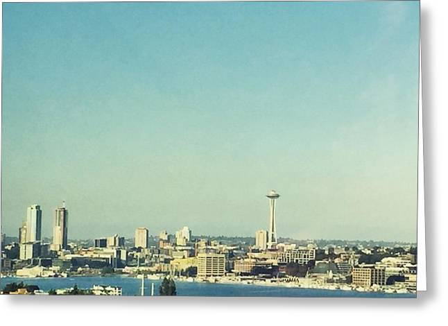 Seattle In The Morning #seattle Greeting Card