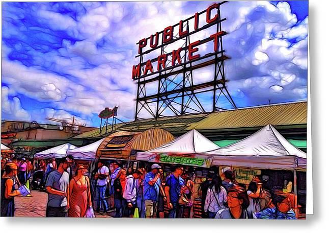 Seattle Landmark Greeting Card