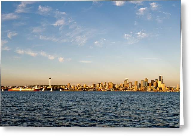 Seattle Landscape Greeting Card by Tom Dowd