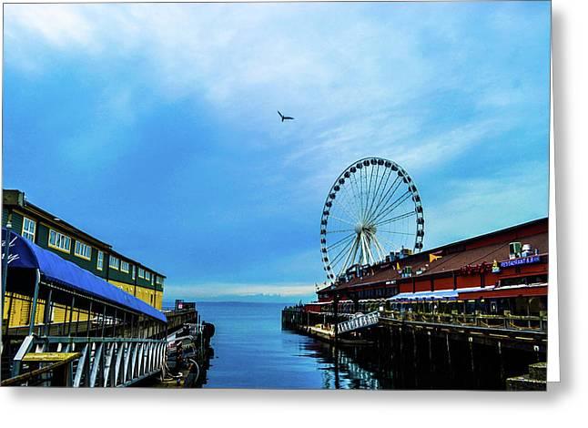 Seattle Pier 57 Greeting Card