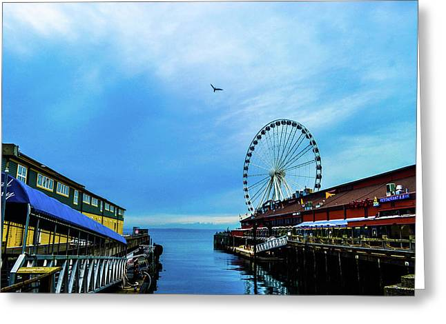 Seattle Pier 57 Greeting Card