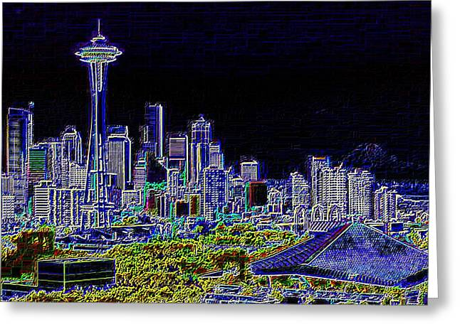Seattle Quintessence Greeting Card by Tim Allen