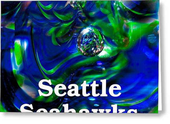 Seattle Seahawks Greeting Card by David Patterson