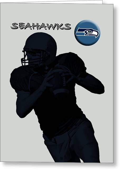 Seattle Seahawks Football Greeting Card by David Dehner