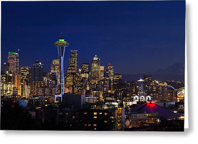 Seattle Seahawks Space Needle Greeting Card