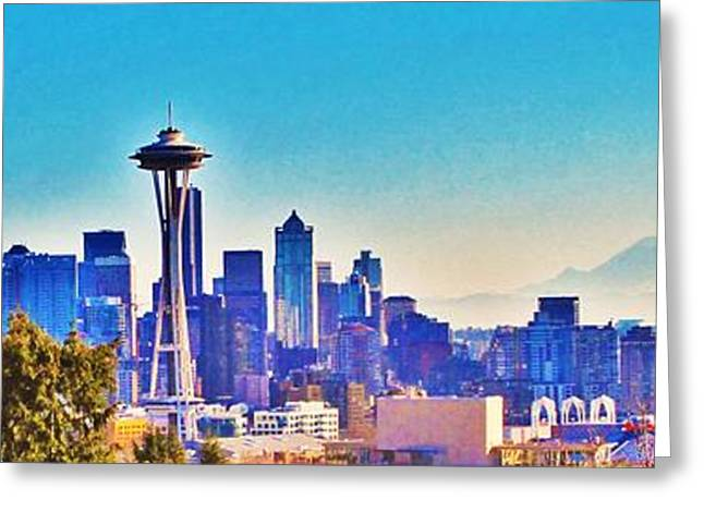 Seattle Sky Greeting Card