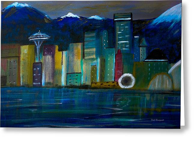 Seattle Skyiline Greeting Card