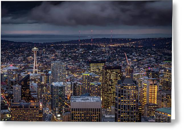 Seattle Skyline Greeting Card