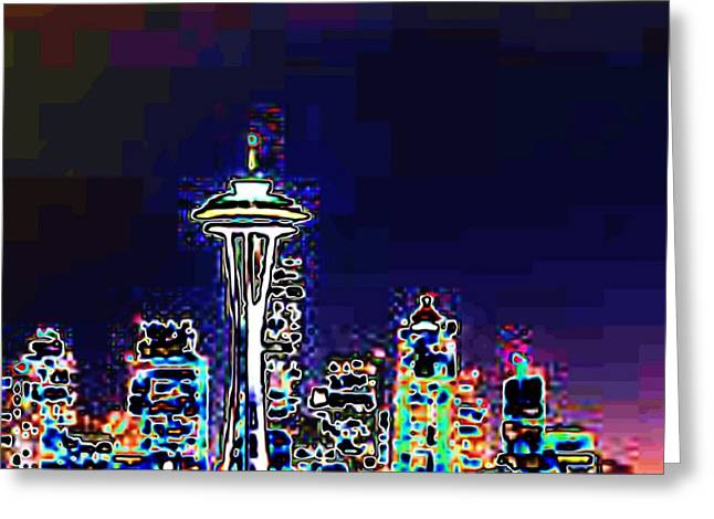 Seattle Skyline Greeting Card by Tim Allen