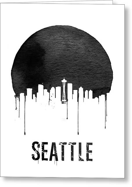 Seattle Skyline White Greeting Card