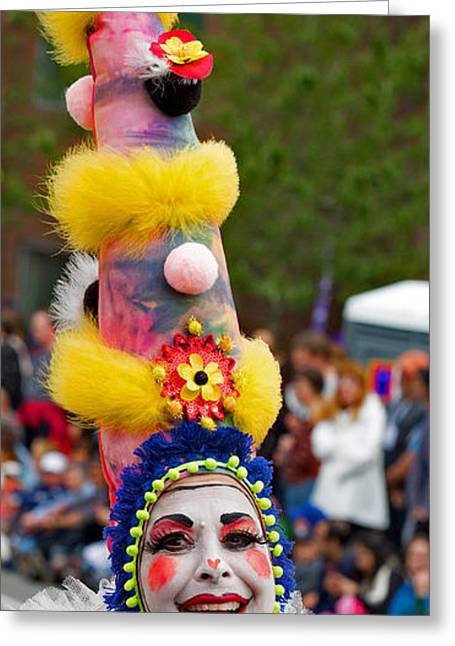 Seattle Solstice Parade Clown Greeting Card by Matthew Ahola