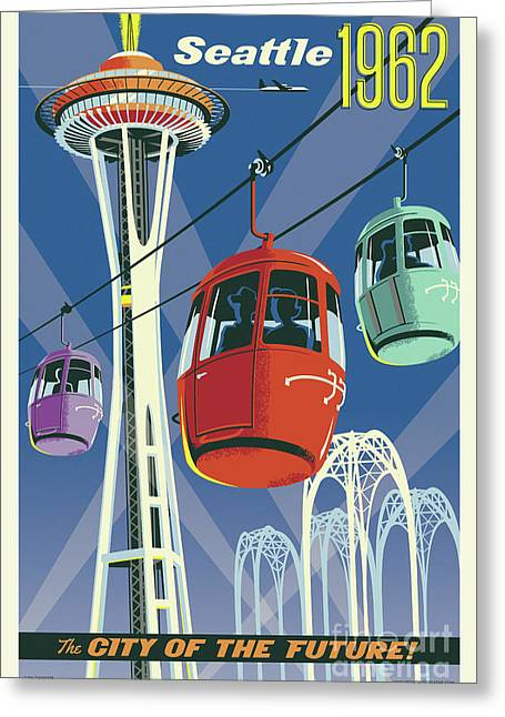 Seattle Space Needle 1962 Greeting Card
