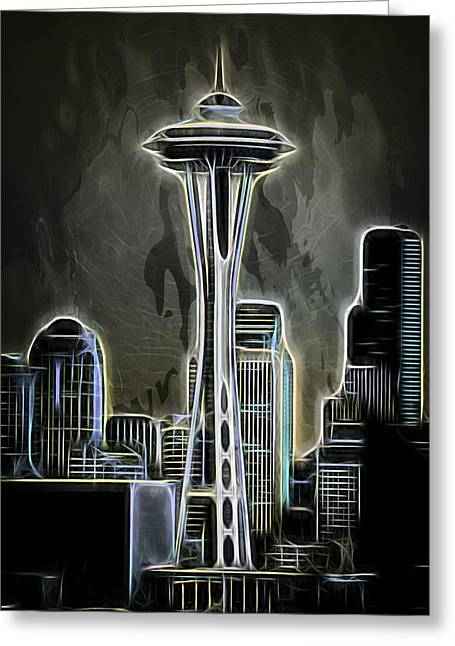 Greeting Card featuring the photograph Seattle Space Needle 2 by Aaron Berg