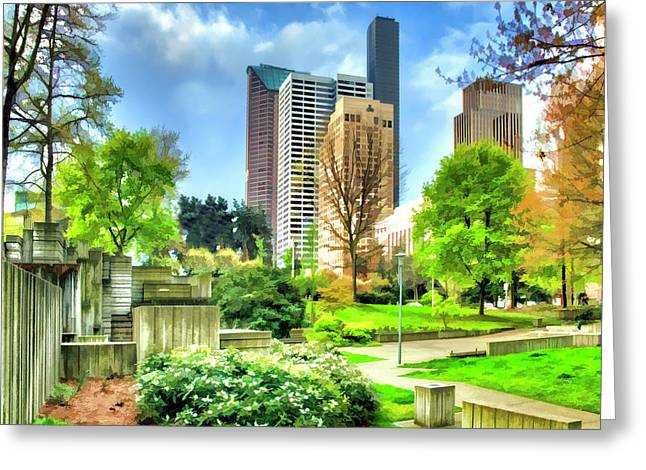 Seattle Spring Fine Art Print Greeting Card by Greg Sigrist