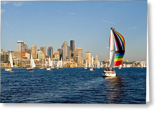 Seattle Tack Greeting Card by Tom Dowd