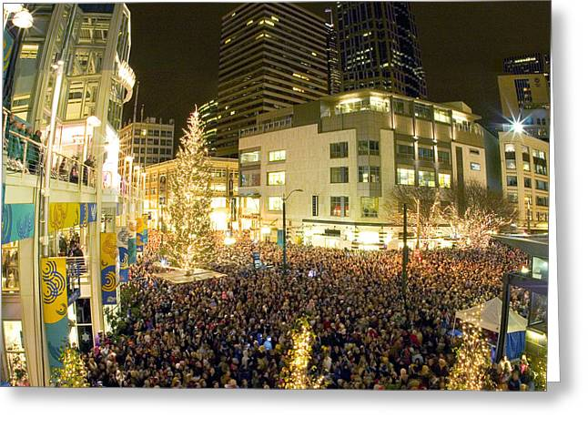 Seattle Westlake Tree Lighting Greeting Card