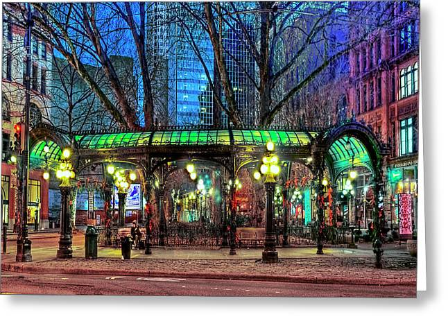 Seattle's Iron Pergola Greeting Card by Greg Sigrist