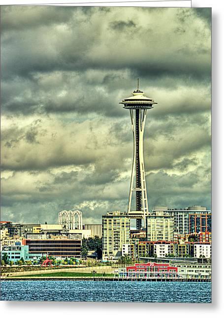 Seattle's Landmark Greeting Card by Dale Stillman