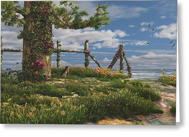 Seaview Retreat Greeting Card by Mary Almond