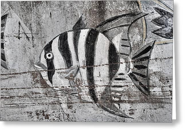 Seawall Art Greeting Card by Savannah Gibbs