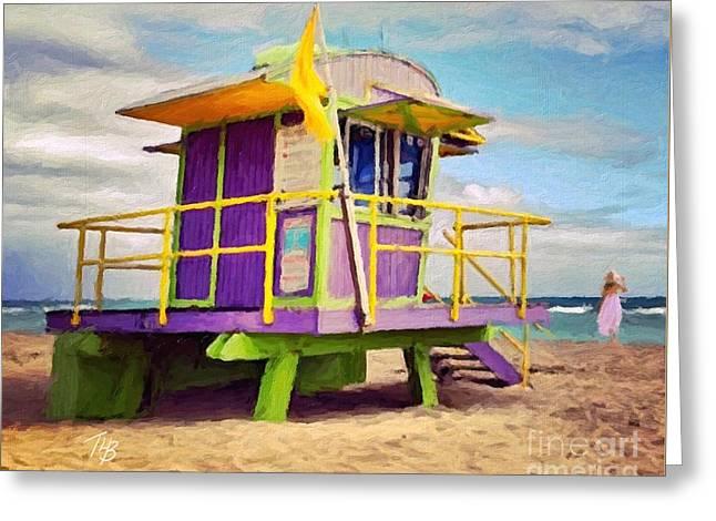 Seawatch Greeting Card by Tammy Lee Bradley