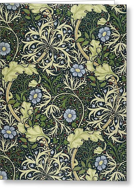 Seaweed Greeting Card by William Morris