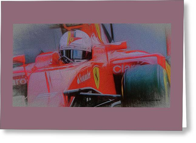 Sebastian Vettel Greeting Card by Marvin Spates