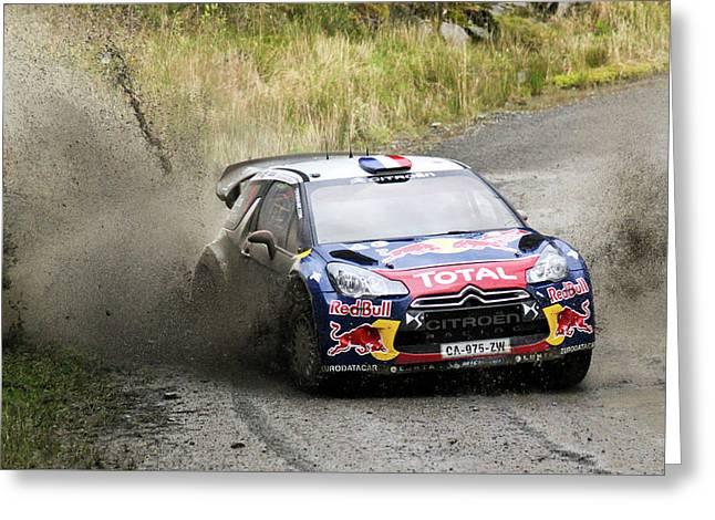 Sebastien Loeb Wrc Rally Gb Greeting Card