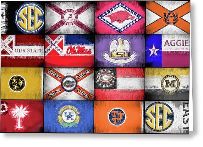 Sec Flags Greeting Card
