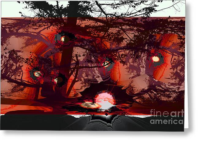 Sechelt Sunset 5 Greeting Card
