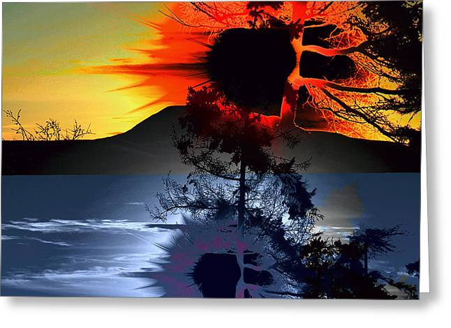 Sechelt Tree Sun And Moon Greeting Card