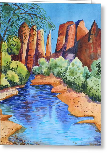 Secluded In Sedona Greeting Card