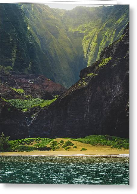 Secluded Kalalau Beach Greeting Card