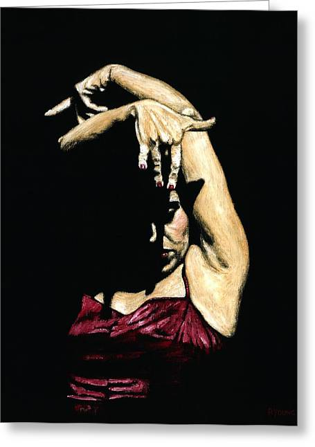 Seclusion Del Flamenco Greeting Card by Richard Young