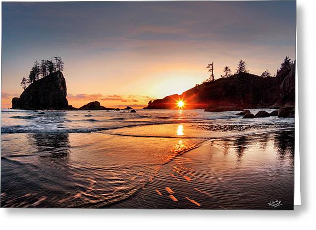 Second Beach 3 Greeting Card by Leland D Howard