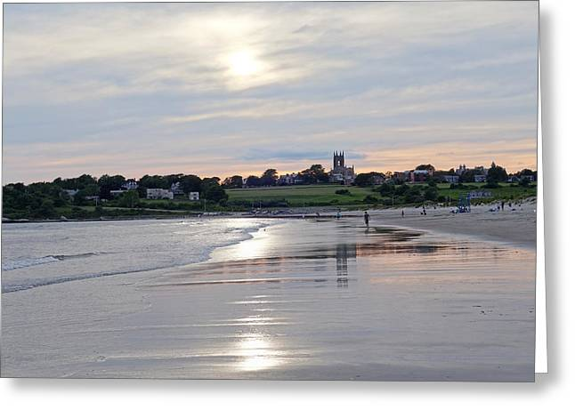 Second Beach Newport Ri Greeting Card