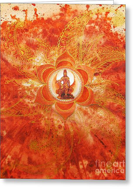 Second Chakra Greeting Card by Joan Doyle