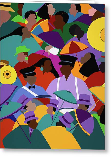 Second Line New Orleans Greeting Card