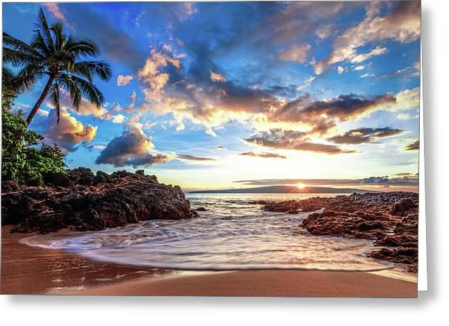 Secret Beach Greeting Card