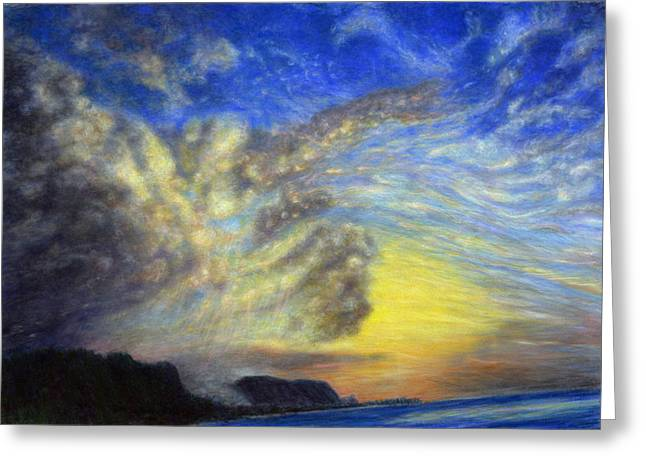 Secret Beach Sunset Greeting Card by Kenneth Grzesik