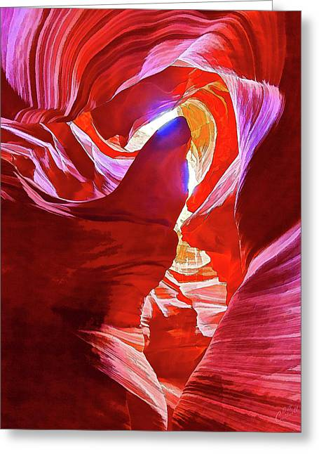 Greeting Card featuring the photograph Secret Canyon 1 by ABeautifulSky Photography